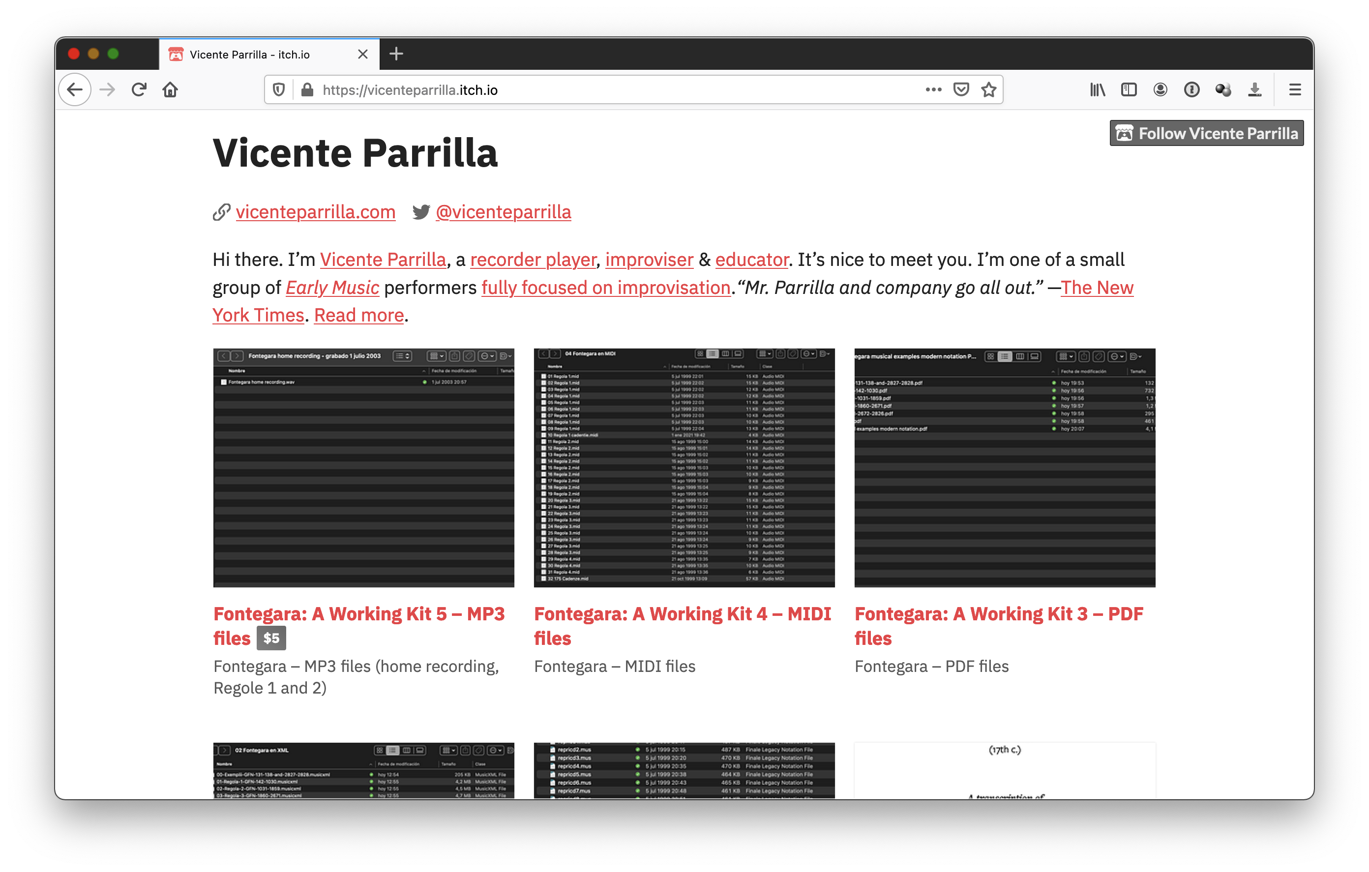 Fontegara: A Working Kit